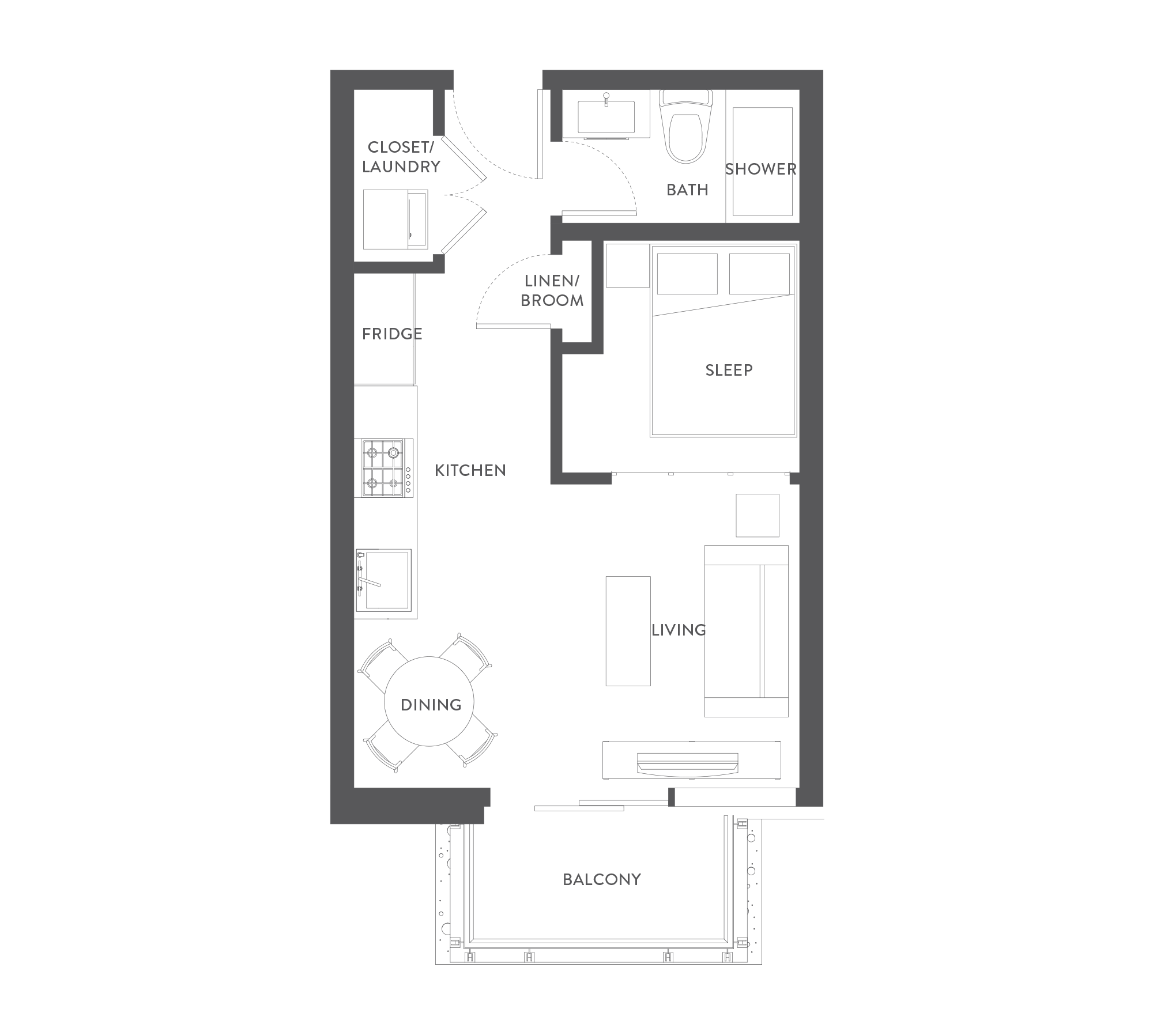 Floorplan Studio A
